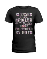 Blessed by God Spoiled By My Pipefitter Ladies T-Shirt front