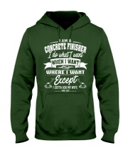 I am a Concrete Finisher Hooded Sweatshirt front