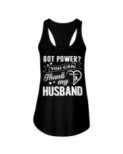 Got powe you can thank my husband Ladies Flowy Tank thumbnail