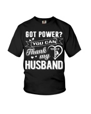 Got powe you can thank my husband Youth T-Shirt tile