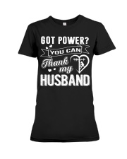 Got powe you can thank my husband Premium Fit Ladies Tee thumbnail