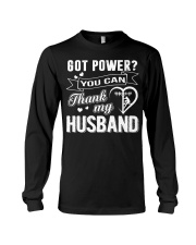 Got powe you can thank my husband Long Sleeve Tee tile