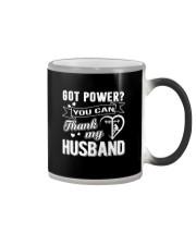 Got powe you can thank my husband Color Changing Mug thumbnail