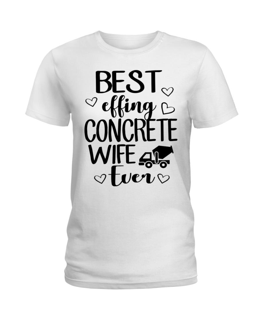 Best Effing Concrete Wife Ever Ladies T-Shirt