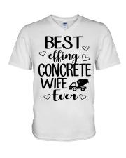 Best Effing Concrete Wife Ever V-Neck T-Shirt thumbnail