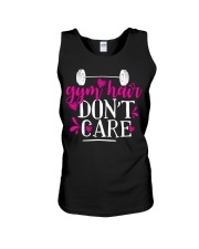 Gym hair don't care Unisex Tank thumbnail