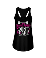 Gym hair don't care Ladies Flowy Tank thumbnail