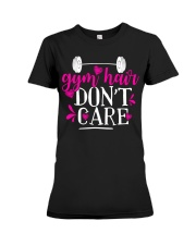 Gym hair don't care Premium Fit Ladies Tee thumbnail