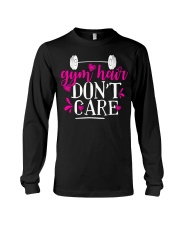 Gym hair don't care Long Sleeve Tee thumbnail