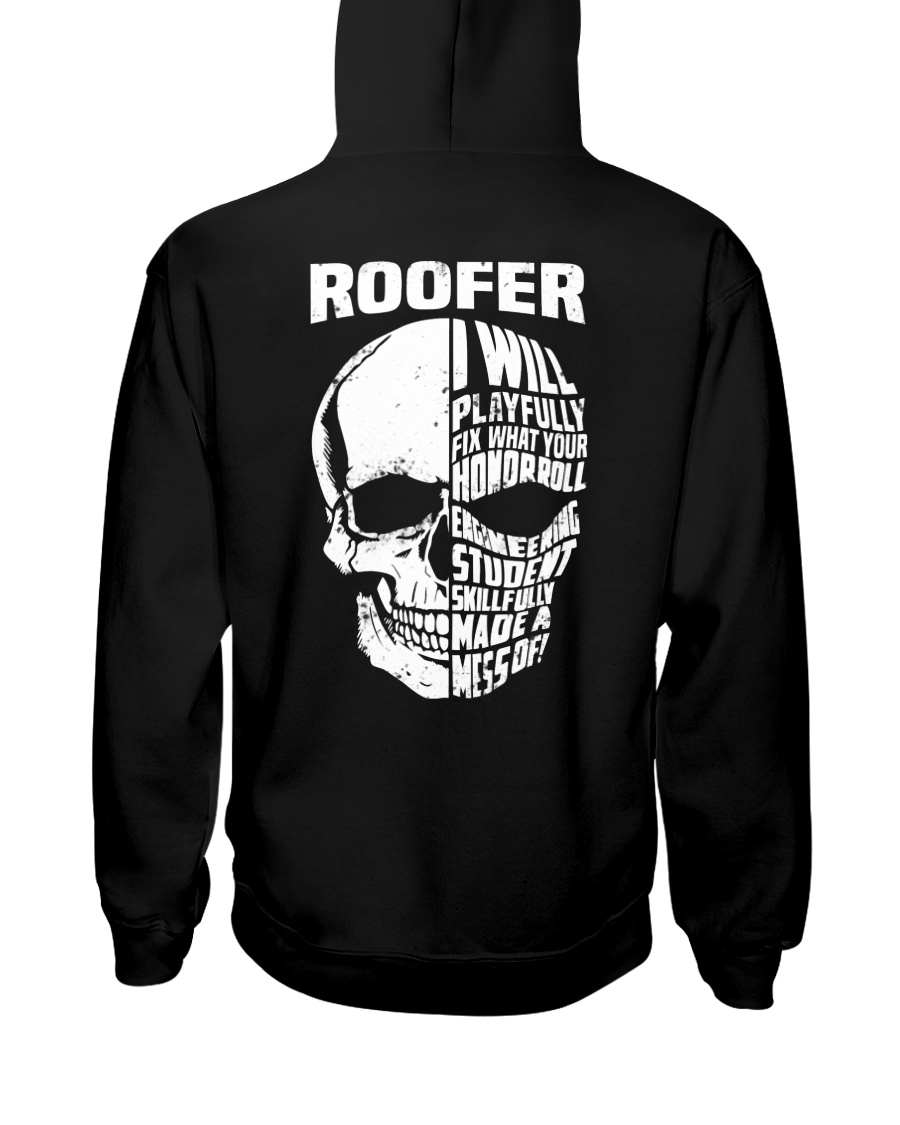 Roofer Skull Hooded Sweatshirt