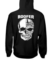 Roofer Skull Hooded Sweatshirt back