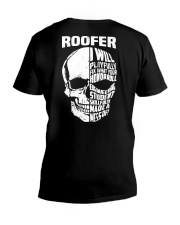 Roofer Skull V-Neck T-Shirt thumbnail