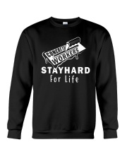 Concrete Workers stayhard for life Crewneck Sweatshirt thumbnail