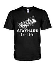 Concrete Workers stayhard for life V-Neck T-Shirt thumbnail