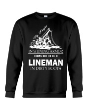 Lineman in dirty boots Crewneck Sweatshirt thumbnail