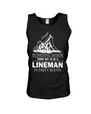 Lineman in dirty boots Unisex Tank thumbnail