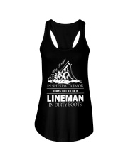 Lineman in dirty boots Ladies Flowy Tank thumbnail