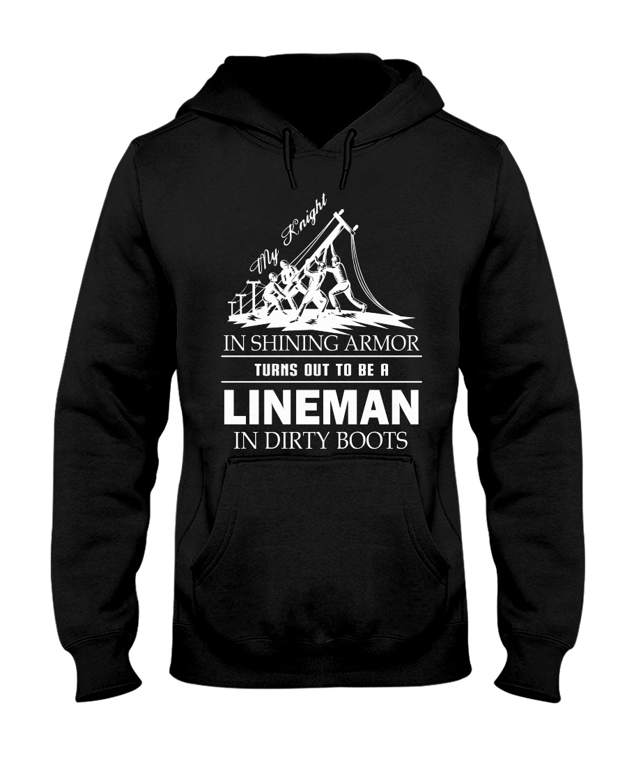 Lineman in dirty boots Hooded Sweatshirt