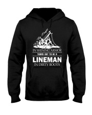 Lineman in dirty boots Hooded Sweatshirt front
