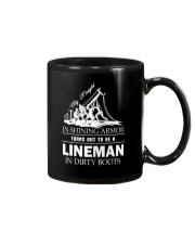 Lineman in dirty boots Mug thumbnail