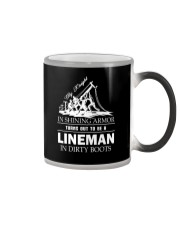 Lineman in dirty boots Color Changing Mug thumbnail