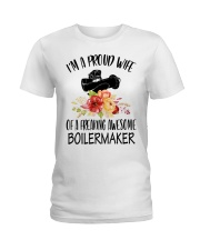 I'm a proud Wife of a freaking awesome Boilermaker Ladies T-Shirt thumbnail