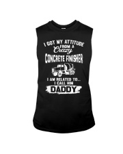 I got my attitude from a crazy Concrete Finisher Sleeveless Tee tile