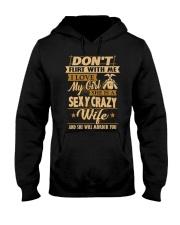 Don't flirt with me i love my girl Hooded Sweatshirt thumbnail