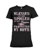 Blessed by God Spoiled By My Lineman Premium Fit Ladies Tee thumbnail