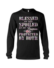 Blessed by God Spoiled By My Lineman Long Sleeve Tee thumbnail