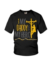 My Daddy My Hero Lineman 2020 Youth T-Shirt front