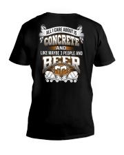 LIMITED CONCRETE FINISHER SHIRT V-Neck T-Shirt thumbnail