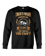 Concrete Finisher Crewneck Sweatshirt thumbnail