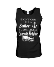 I Cuss Like A Concrete FInisher Unisex Tank thumbnail