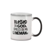 Blessed By God Spoiled by My Lineman Color Changing Mug thumbnail