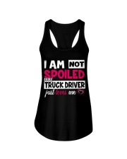 I am not spoiled my Truck Driver just loves me Ladies Flowy Tank thumbnail