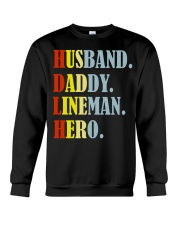 Husband Daddy Lineman Hero Crewneck Sweatshirt thumbnail