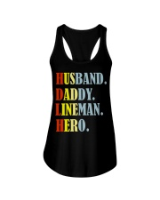 Husband Daddy Lineman Hero Ladies Flowy Tank thumbnail