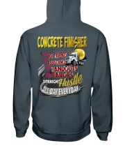 I am a Concrete Finisher Hooded Sweatshirt back