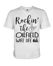 Rockin' the Oilfield's Wife life V-Neck T-Shirt thumbnail