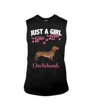 Dachshund Shirt Just a Girl Who Loves Dachshunds Sleeveless Tee thumbnail