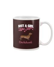 Dachshund Shirt Just a Girl Who Loves Dachshunds Mug thumbnail