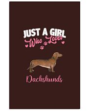 Dachshund Shirt Just a Girl Who Loves Dachshunds Vertical Poster tile