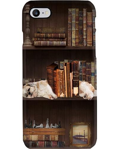 Bookshelf Vintage And Sleeping Shih Tzu Phone Case