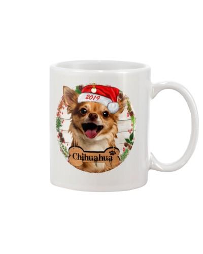 Chihuahua merry christmas 2019 mug
