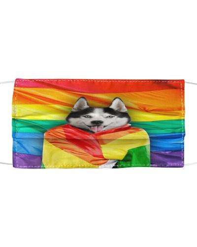 TH 32 Husky rainbow flag
