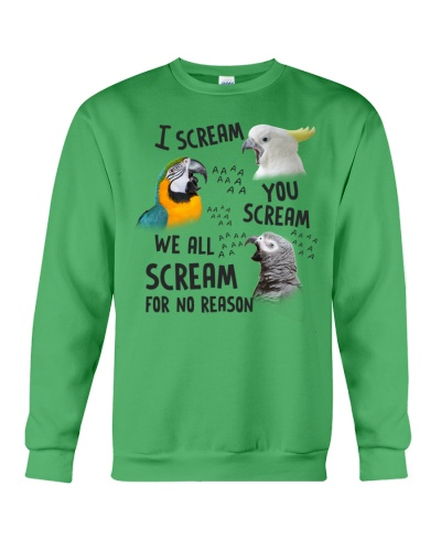 Mt 10 We All Scream For No Reason Parrot Shirt