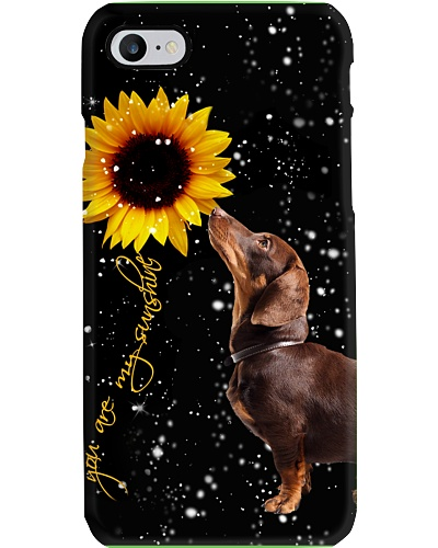 Dachshund U r my sunshine phone case