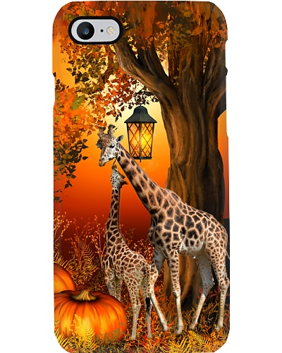 Giraffe autumn tree case