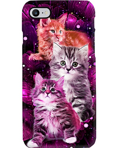Magic galaxy rose Maine coon Cat phone case
